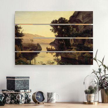 Holzbild - Jean-Baptiste Camille Corot - Landschaft bei Riva - Querformat 2:3