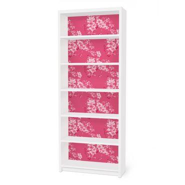 Möbelfolie für IKEA Billy Regal - Klebefolie Antikes Blumenmuster
