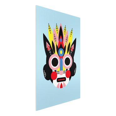Forex Fine Art Print - Collage Ethno Maske - Gesicht - Hochformat 3:2
