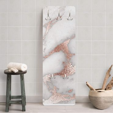 Garderobe - Mamoroptik mit Glitzer