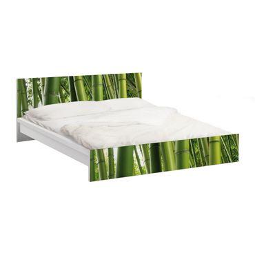 Möbelfolie für IKEA Malm Bett niedrig 140x200cm - Klebefolie Bamboo Trees No.1
