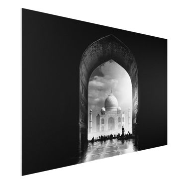 Forex Fine Art Print - Das Tor zum Taj Mahal - Querformat 2:3