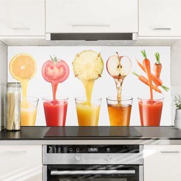 Spritzschutz Glas - Frisch gepresst - Querformat - 2:1