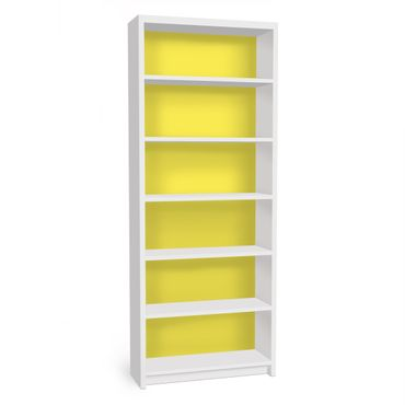 Möbelfolie für IKEA Billy Regal - Klebefolie Colour Lemon Yellow