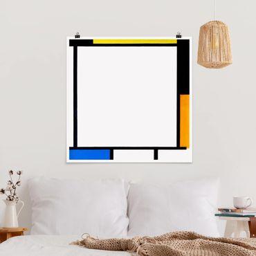 Poster - Piet Mondrian - Komposition II - Quadrat 1:1