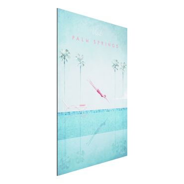 Aluminium Print - Reiseposter - Palm Springs - Hochformat 3:2