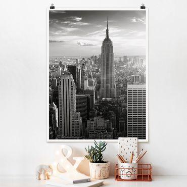 Poster - Manhattan Skyline - Hochformat 3:4