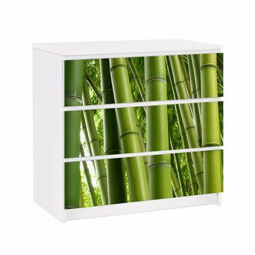 Möbelfolie für IKEA Malm Kommode - Klebefolie Bamboo Trees No.1