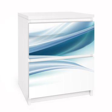 Möbelfolie für IKEA Malm Kommode - Selbstklebefolie Folie Blue Dust