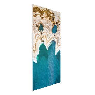Forex Fine Art Print - Lagune in Israel - Hochformat 2:1