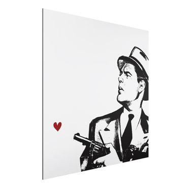 Aluminium Print - Love and Gun - Quadrat 1:1