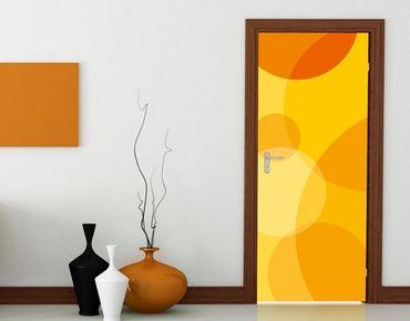 "Fototapete Tür - Papier No.33 ""RETRO CIRCLES"" 100x210cm"