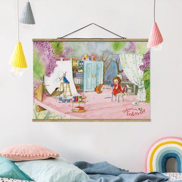 Stoffbild mit Posterleisten - Erdbeerinchen Erdbeerfee - Bastelstunde - Querformat 3:2