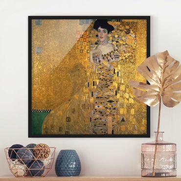 Bild mit Rahmen - Gustav Klimt - Adele Bloch-Bauer I - Quadrat 1:1