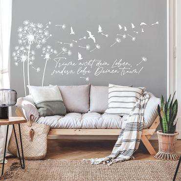 Wandtattoo - Pusteblume - Lebe deinen Traum