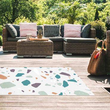 Vinyl-Teppich - Detailliertes Terrazzo Muster Grosseto - Querformat 2:1