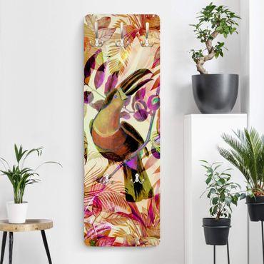 Garderobe - Bunte Collage - Tukan