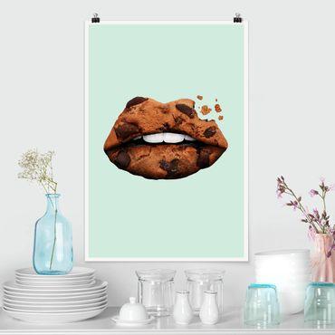 Poster - Jonas Loose - Lippen mit Keks - Hochformat 3:2