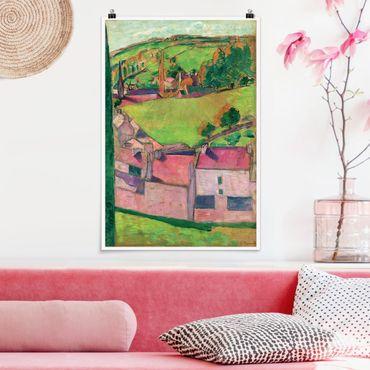 Poster - Emile Bernard - Ansicht von Pont-Aven - Hochformat 3:2