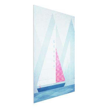Forex Fine Art Print - Reiseposter - Genua - Hochformat 3:2