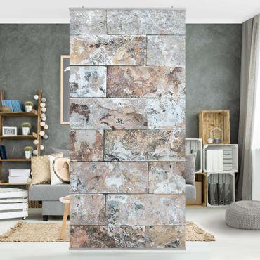Raumteiler - Naturmarmor Steinwand 250x120cm