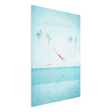 Forex Fine Art Print - Reiseposter - Palm Springs - Hochformat 4:3