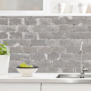 Küchenrückwand - Betonziegel