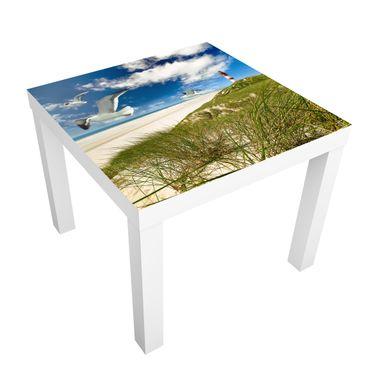 Möbelfolie für IKEA Lack - Klebefolie Dune Breeze