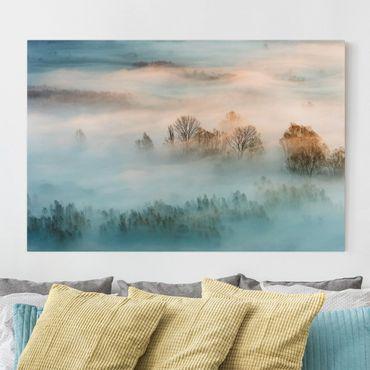 Leinwandbild - Nebel bei Sonnenaufgang - Querformat 2:3