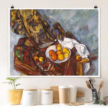 Poster - Paul Cézanne - Stillleben Früchte - Querformat 3:4