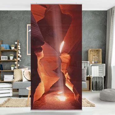 Raumteiler - Lichtschacht im Antelope Canyon 250x120cm