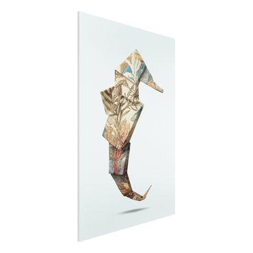 Forex Fine Art Print - Jonas Loose - Origami Seepferdchen - Hochformat 3:2
