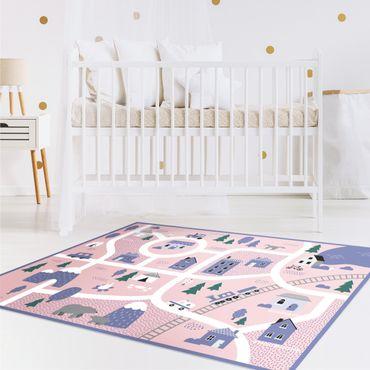 Vinyl-Teppich - Spielteppich Dorf - Ab aufs Land - Querformat 4:3