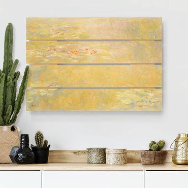 Holzbild - Claude Monet - Seerosenteich - Querformat 2:3