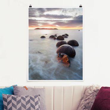 Poster - Moeraki Neuseeland - Hochformat 3:4