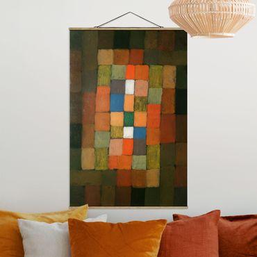 Stoffbild mit Posterleisten - Paul Klee - Steigerung - Hochformat 2:3