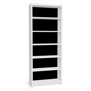 Möbelfolie für IKEA Billy Regal - Klebefolie Colour Black