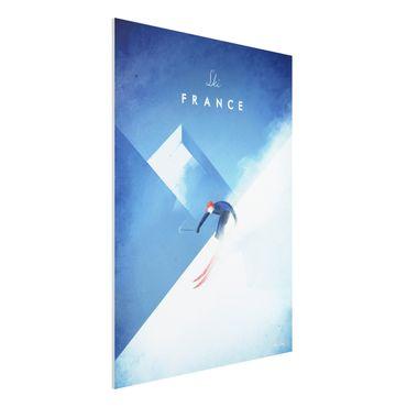 Forex Fine Art Print - Reiseposter - Ski in Frankreich - Hochformat 4:3