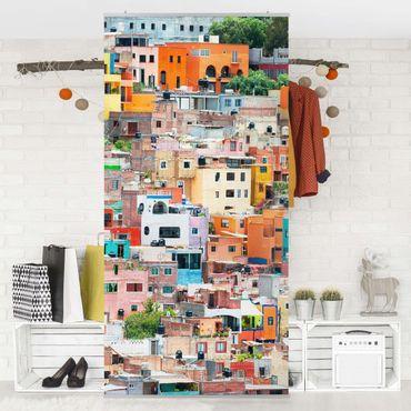 Raumteiler - Farbige Häuserfront Guanajuato 250x120cm