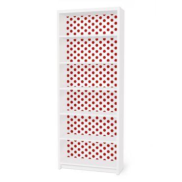 Möbelfolie für IKEA Billy Regal - Klebefolie No.DS92 Punktdesign Girly Weiß