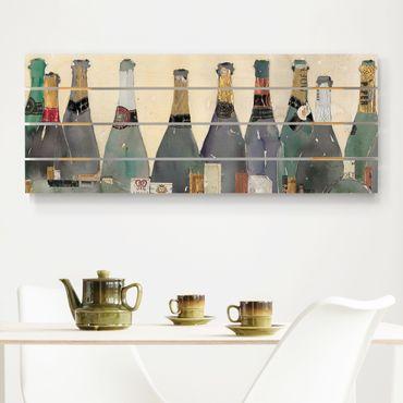 Holzbild - Entkorkt - Champagner - Querformat 2:5