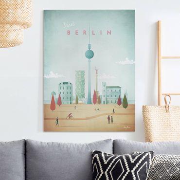 Leinwandbild - Reiseposter - Berlin - Hochformat 4:3