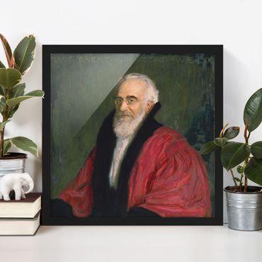 Bild mit Rahmen - Franz von Stuck - Bildnis Lujo Brentano - Quadrat 1:1