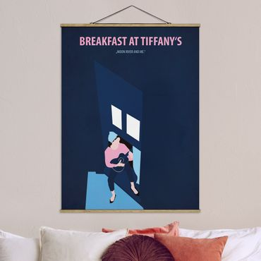 Stoffbild mit Posterleisten - Filmposter Breakfast at Tiffany´s - Hochformat 4:3