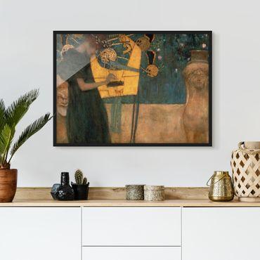 Bild mit Rahmen - Gustav Klimt - Die Musik - Querformat 3:4