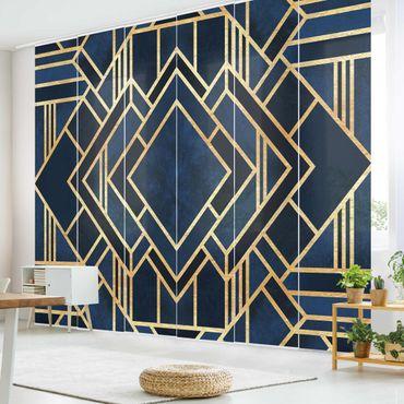 Schiebegardinen Set - Elisabeth Fredriksson - Art Deco Gold - 6 Flächenvorhänge