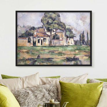 Bild mit Rahmen - Paul Cézanne - Ufer der Marne - Querformat 3:4