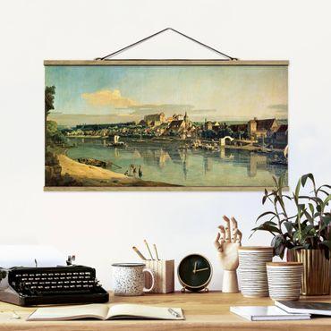Stoffbild mit Posterleisten - Bernardo Bellotto - Blick auf Pirna - Querformat 2:1