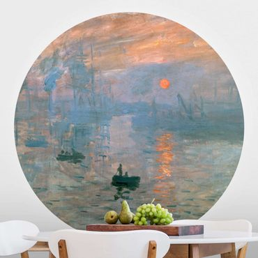 Runde Tapete selbstklebend - Claude Monet - Impression