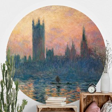 Runde Tapete selbstklebend - Claude Monet - London Sonnenuntergang